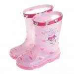 粉紅豬小妹佩佩豬附鞋墊粉色愛心兒童雨鞋(15~21公分)