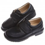 時尚經典款純黑色男童紳士皮鞋(19.5~22.5公分)