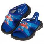 SuperWings超級飛俠杰特藍色附後綁帶兒童拖鞋(14~15公分)