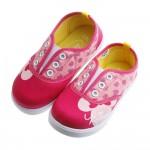 Disney迪士尼米妮桃紅色鞋帶孔裝飾束帶休閒鞋(16~20...
