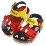 Disney迪士尼米奇紅色經典造型腳背可調節式歐風兒童氣墊...