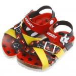 *Disney迪士尼米奇紅黑雙色交織歐風兒童氣墊涼鞋(16~21公分)