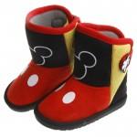 Disney迪士尼90週年限定款米奇黑色後扣式保暖雪靴(16...