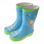 快樂小象天空藍色橡膠雨鞋(16~22cm)