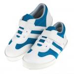 台灣製藍白潮款透氣兒童休閒鞋(17~20.5公分)
